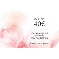 Darilni bon v vrednosti 40 €