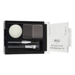 NYX Eyebrow Cake Powder / Senčilo za obrvi 01 Black/Gray