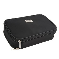 NYX Black Large DoubleZipper Makeup Bag