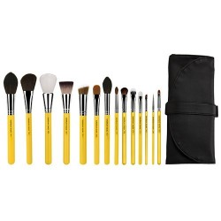 Bdellium Tools Studio The Collection 14pc. Brush Set with Roll-up Pouch Brush Set
