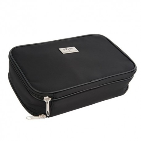 NYX Black Large DoubleZipper Makeup Bag
