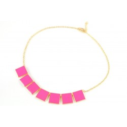Ogrlica KOCKICA pink