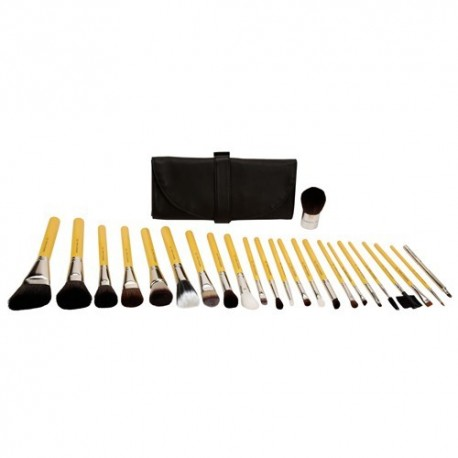 Bdellium Tools Studio Luxury 24pc. Brush Set with Roll-up Pouch Brush Set